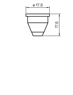 MLN01317 FLOWMASTER CERAMIC NOZZLE HOLDER TRUMPF